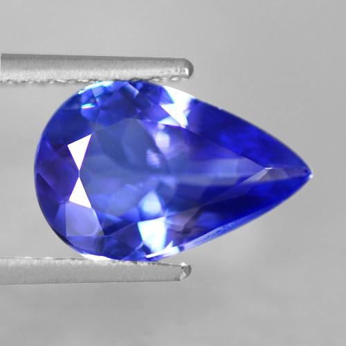 1.79 Cts Natural Top AAA+ D-Block Blue Tanzanite Loose Gemstone Pear Cut Tanzania