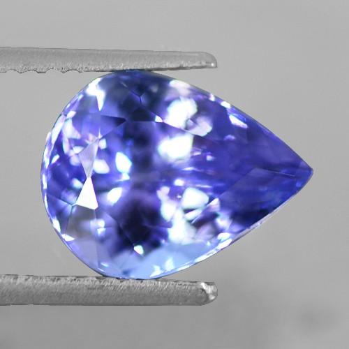 3.42 Cts Natural Top AAA+ D-Block Blue Tanzanite Loose Gemstone Pear Cut Tanzania