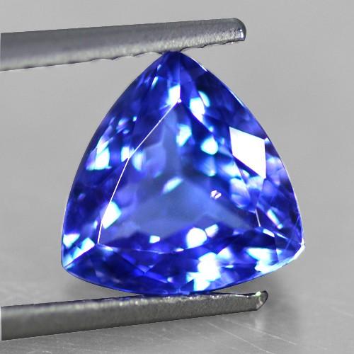 2.22 Cts Natural Top AAA+ D-Block Blue Tanzanite Loose Gemstone Trillion Cut Tanzania