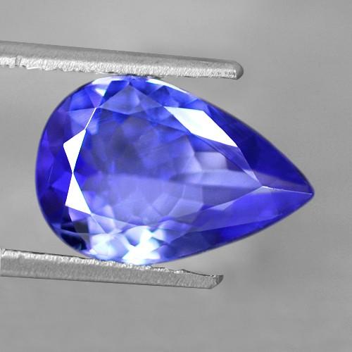 2.60 Cts Natural Top AAA+ D-Block Blue Tanzanite Loose Gemstone Pear  Cut Tanzania