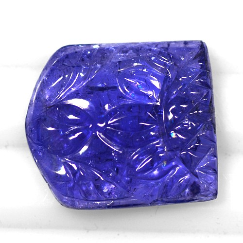 21.38 Cts Natural Top Fine Blue Tanzanite Loose Gemstone Fancy Hand Made Carving
