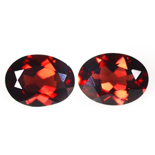 2.89 cts Natural Mind Boggling Pyrope Red Garnet Oval Cut Pair Mozambique 8x6 mm
