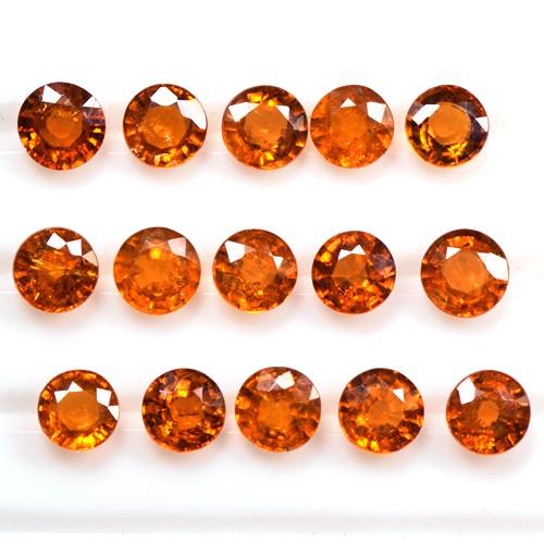 7.10 Cts Real Fanta Orange Mandarin Spessartite Garnet Round Lot Namibia 4.5 mm