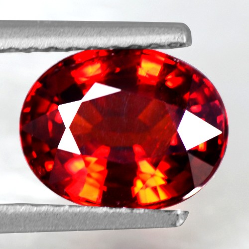 2.22 Cts Real Deep Fanta Wine Red Spessartite Garnet Oval Cut Unheated Namibia