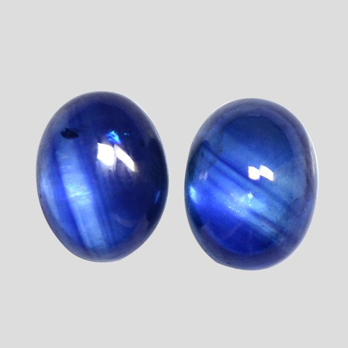 6.12 Cts Natural Lustrous Royal Blue Sapphire Oval Cabochon Pair Oldmogok 9x7 mm