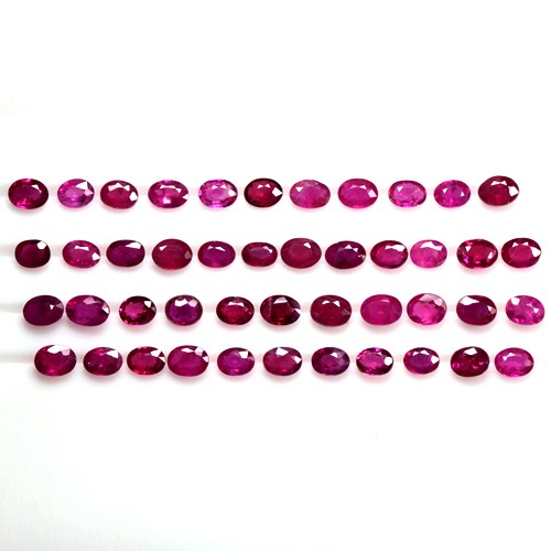 8.68 Cts Natural Top Pink Red Ruby Loose Gemstone Oval Cut Lot Oldmogok 4x3 mm