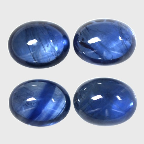11.26 Cts Real Top Lustrous Royal Blue Sapphire Oval Cabochon Lot Thailand 9x7mm