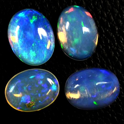 15.76 Cts Natural Finest Rainbow Fire Ethiopian Welo Opal Oval Cabochon Lot Gem