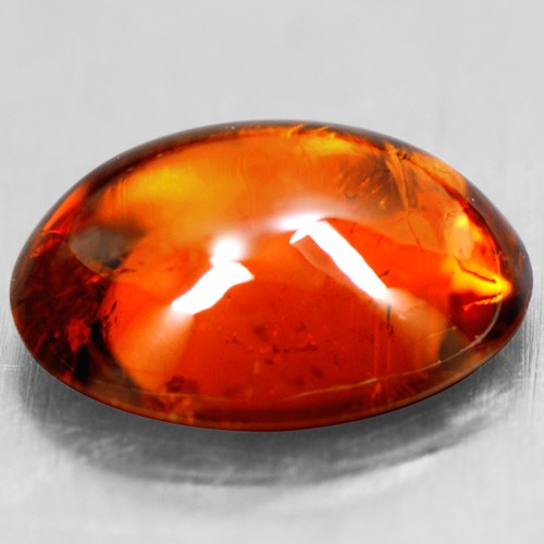 1.58 Cts Natural Lustrous Fanta Honey Orange Spessartite Garnet Oval Cab 8x6 mm