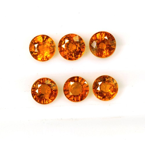 2.20 Cts Natural Fanta Orange Mandarin Spessartite Garnet Round Lot Unheated 4mm