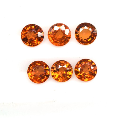 2.46 Cts Natural Lustrous Fanta Orange Spessartite Garnet Round Lot Unheated 4mm