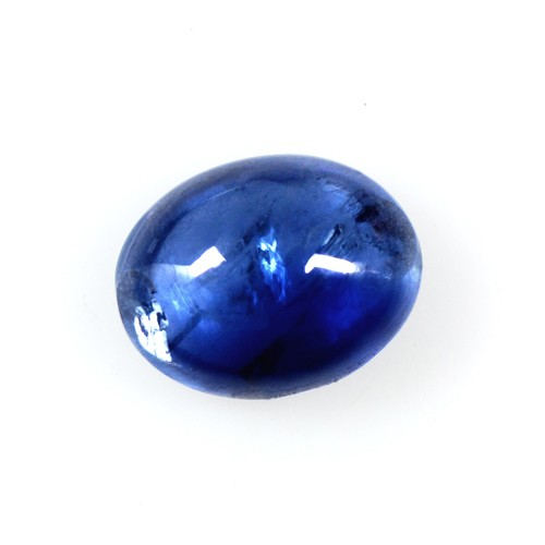 1.65 Cts Real Lustrous Royal Blue Sapphire Oval Cabochon Thailand 8x6mm Gemstone