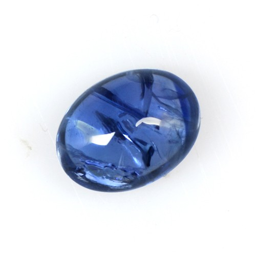 1.83 Cts Real Lustrous Royal Blue Sapphire Oval Cabochon Thailand 8x6mm Gemstone