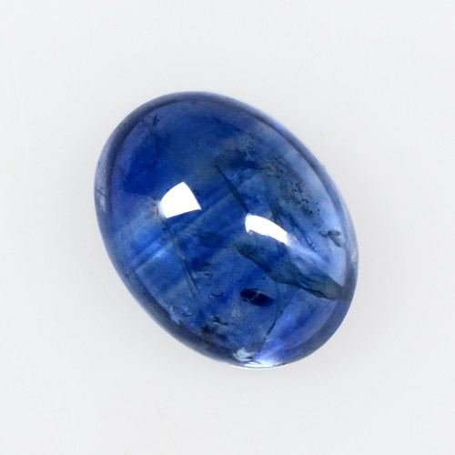 1.71 Cts Real Lustrous Royal Blue Sapphire Oval Cabochon Thailand 8x6mm Gemstone