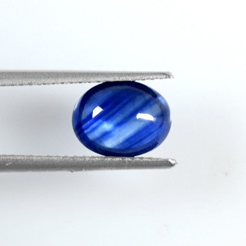 2.72 Cts Real Lustrous Royal Blue Sapphire Oval Cabochon Thailand 9x7mm Gemstone