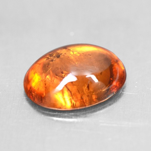 1.55 Cts Natural Lustrous Top Fanta Orange Spessasrtite Garnet Oval Cab 8x6 mm