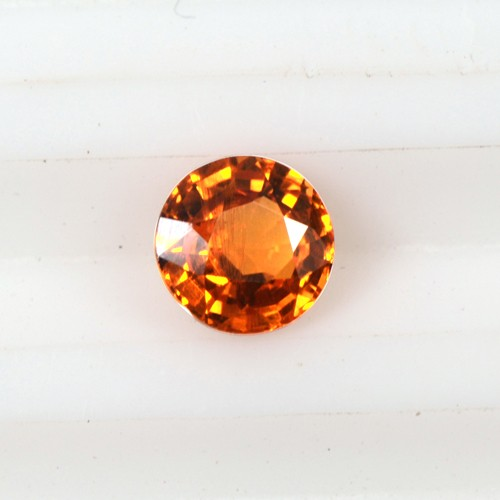 0.56 Cts Natural Top Lustrous Fanta Orange Spessasrtite Garnet Round Cut 5 mm