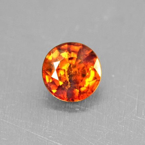 0.50 Cts Natural Top Lustrous Fanta Orange Spessasrtite Garnet Round Cut 4.5 mm