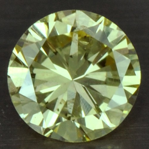 0.15 cts Natural Fancy Yellow Diamond Loose Gemstone Round Cut Belgium Untreated