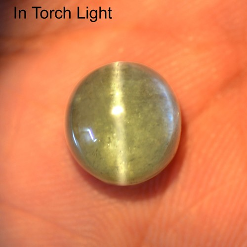 10.84 Cts Natural Lustrous Sharp Paraiba Blue Tourmaline Cats Eye Round Cab Gem