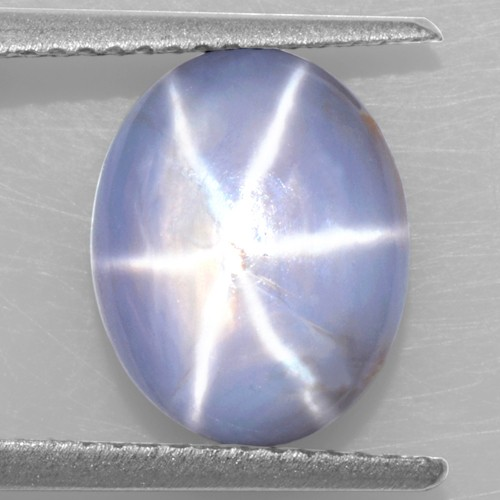 5.28 Cts Natural Lustrous Sharp 6 Rays Unheated Blue Star Sapphire Oval Cabochon