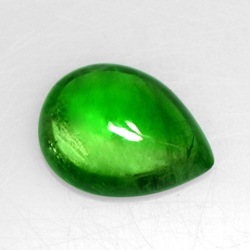 3.41 Cts Natural Lustrous Emerald Green Tsavorite Pear Cabochon Kenya Loose Gem