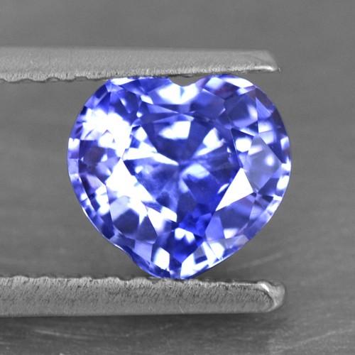 1.22 Cts Natural Certified Top Purple Blue Sapphire Heart Ceylon 6 mm