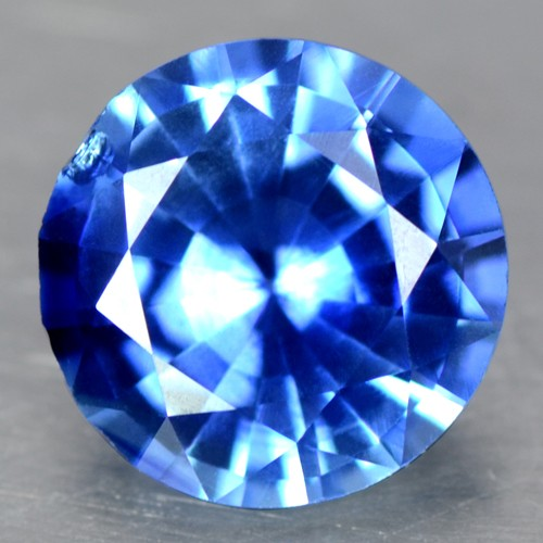 1.0 Cts Natural Lustrous Top Blue Sapphire Round Cut Loose Gemstone Ceylon Video