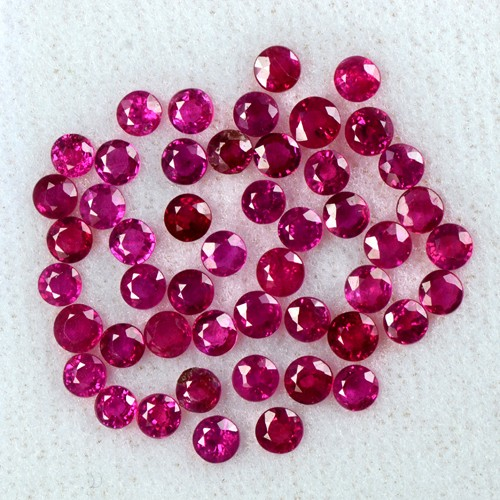 7.63 Cts Natural Lustrous Top Ruby Round Cut Lot Finest Loose Gemstone Oldmogok Video