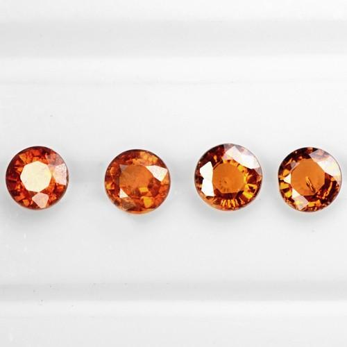 2.27 Cts Natural Lustrous Fanta Orange Spessartite Garnet Lot Unheated Namibia