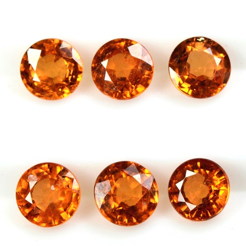 3.36 Cts Natural Lustrous Fanta Orange Spessartite Garnet Lot Unheated Namibia