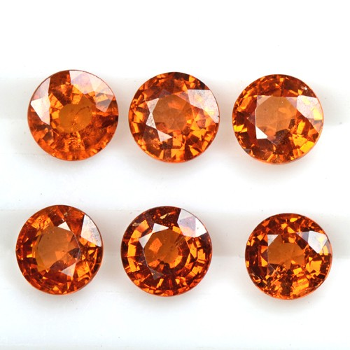 4.03 Cts Natural Lustrous Fanta Orange Spessartite Garnet Lot Unheated Namibia