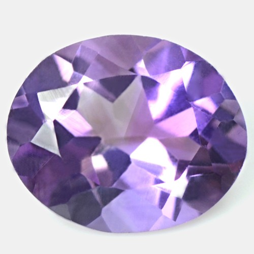 4.09 Cts Natural Top Purple Oval Cut Amethyst 12x10 mm Brazil Loose Gemstone