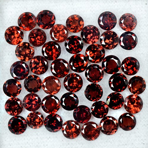24.80 Cts Natural Superb Quality Wine Red Garnet Round Cut Lot Mozambique 5 mm