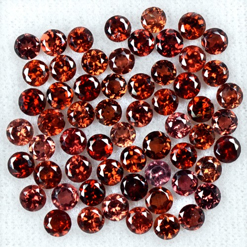 20.92 Cts Natural Top Wine Red Garnet Round Cut Lot Mozambique Size 4 upto 4.5mm