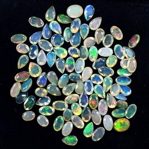 11.25 Cts Natural Lustrous Oval Pear Cut Mix Ethiopian Opal Lot 5x3 mm Ethiopia