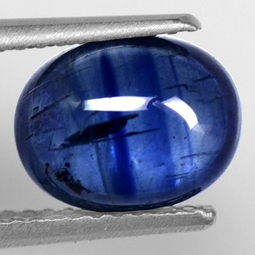 3.34 Cts Natural LustrousRoyal Blue Loose Sapphire Oval Cabochon 9x7 mm Gems