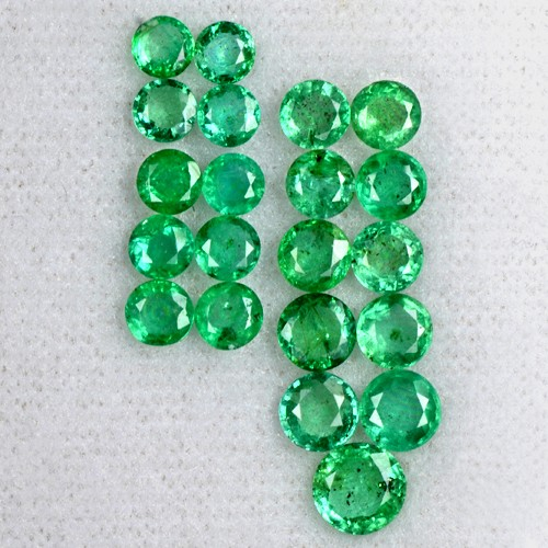 5.75 Cts Natural Rich Green Emerald Loose Gemstone Round Lot Untreated Zambia
