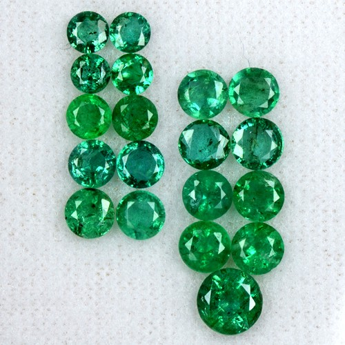 6.35 Cts Natural Rich Green Emerald Loose Gemstone Round Lot Untreated Zambia