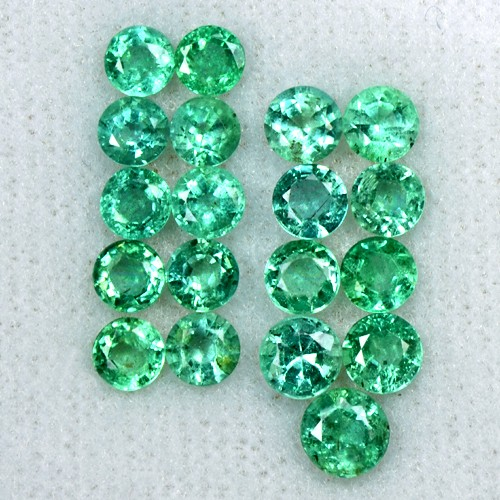4.71 Cts Natural Top Green Emerald Loose Gemstone Round Cut Lot Untreated Zambia