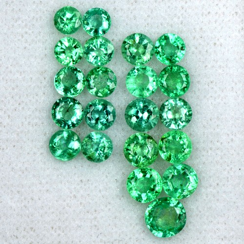 6.1 Cts Natural Fine Green Emerald Loose Gemstone Round Cut Lot Untreated Zambia