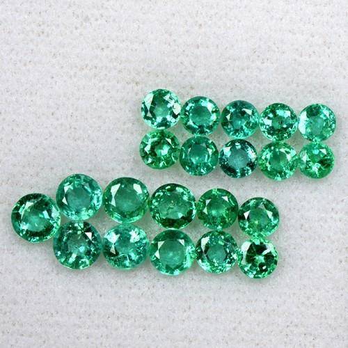 5.53 Cts Natural Fine Emerald Untreated Gemston Round Cut 3.5 upto 4.7 mm Zambia