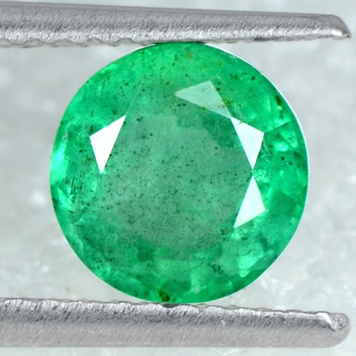 1.28 Cts Natural Emerald Top Rich Green 7 mm Amazing Gemstone Round Cut Zambia