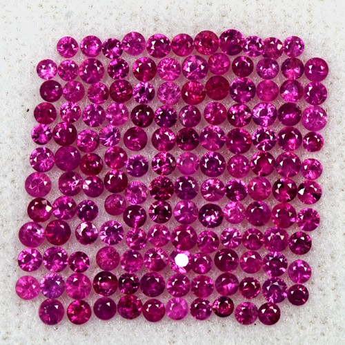 3.99 Cts Natural Top Red Ruby Round Diamond Cut Lot 1.5 upto 2 mm Loose Oldmogok