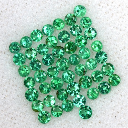 1.66 Cts Natural 2 mm Top Emerald Lovely Gemstone Round Diamond Cut Lot Zambia