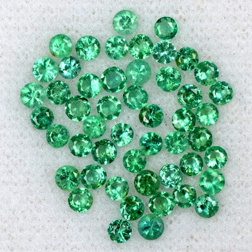 2.80 Cts Natural 2.5 mm Top Emerald Lovely Gemstone Round Diamond Cut Lot Zambia