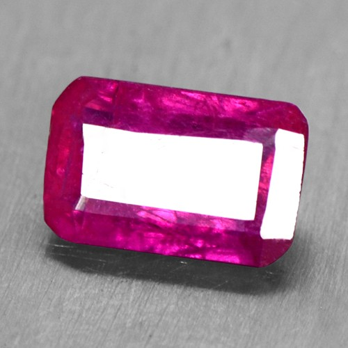 0.76 Cts Natural Lovely Blood Red Ruby Gemstone Square Cut 6.5x4 mm Burma Video