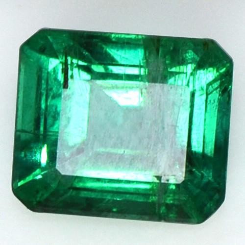 1.80 Cts Natural Fine Gemstone Rich Green Emerald Octagon Cut Untreated Zambia