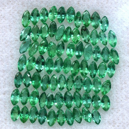 Natural Green Emerald 4.00 Cts Marquise Cut 75 pcs 3.5x2 mm Untreated Zambia