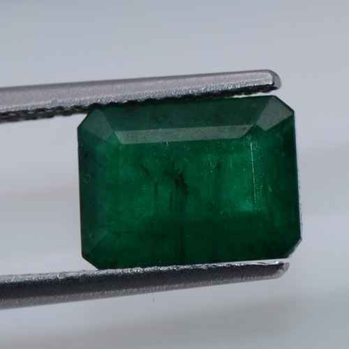 2.65 Cts Natural Top Fine Quality Green Emerald Octagon 1 Pc Untreated Zambia